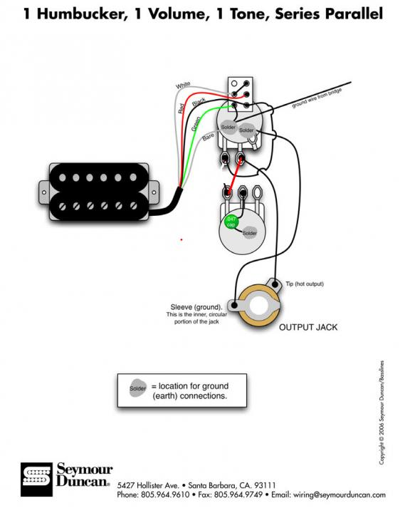 2 Humbucker 1 Volume 1 Tone Wiring Diagram