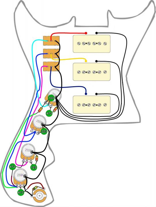 Teisco Wiring Diagram from forum.seymourduncan.com