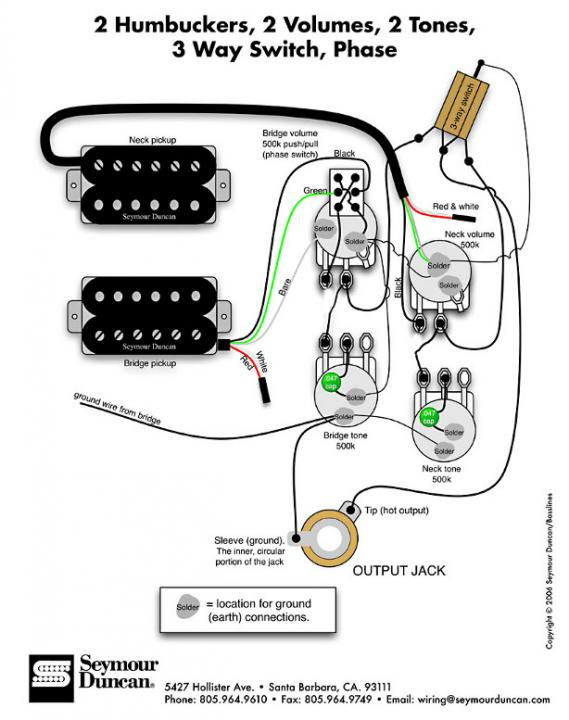 [DIAGRAM_38IU]  Wiring diagram for vintage 50's with phase - Seymour Duncan User Group  Forums | Les Paul Wiring Diagram Duncan |  | Seymour Duncan Forum