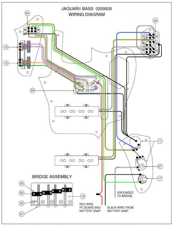 vintage fender jaguar wiring sjb 1 on fender jaguar bass delux  sjb 1 on fender jaguar bass delux
