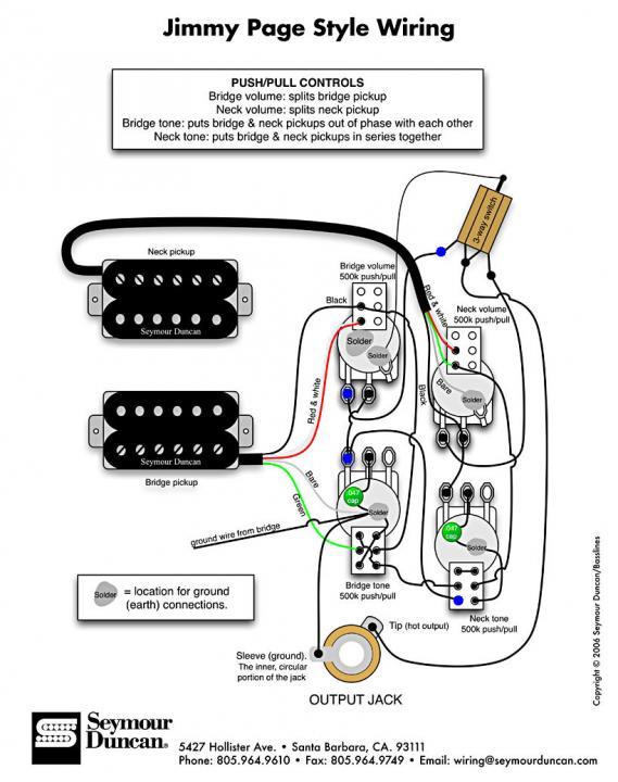 Wiring Diagram Seymour Duncan Jb