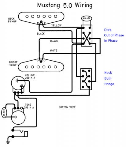 mustang wiring mod fender mustang humbucker wiring diagram  seymour duncan forum