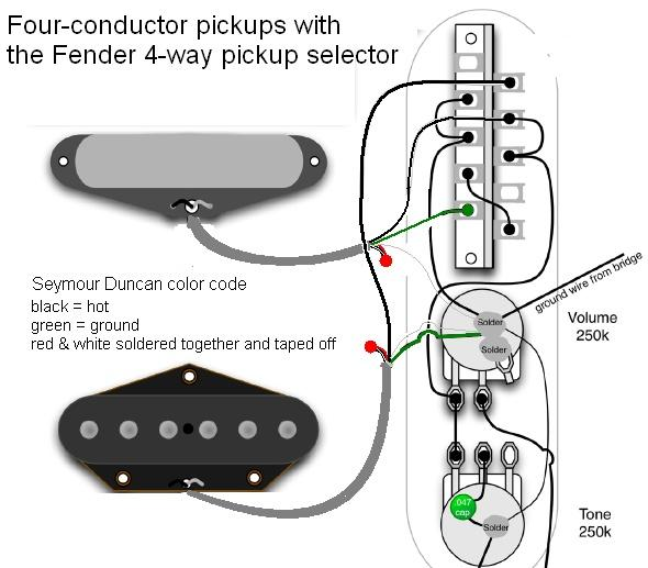 4 way switch wiring diagram fender tele stack pups w fender 4 way   tele stack pups w fender 4 way