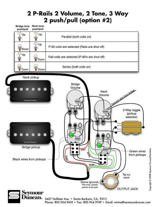 P-rails Wiring Diagram