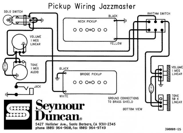 Jazzmaster Antiquity I Wiring Help Seymour Duncan User Group Forums
