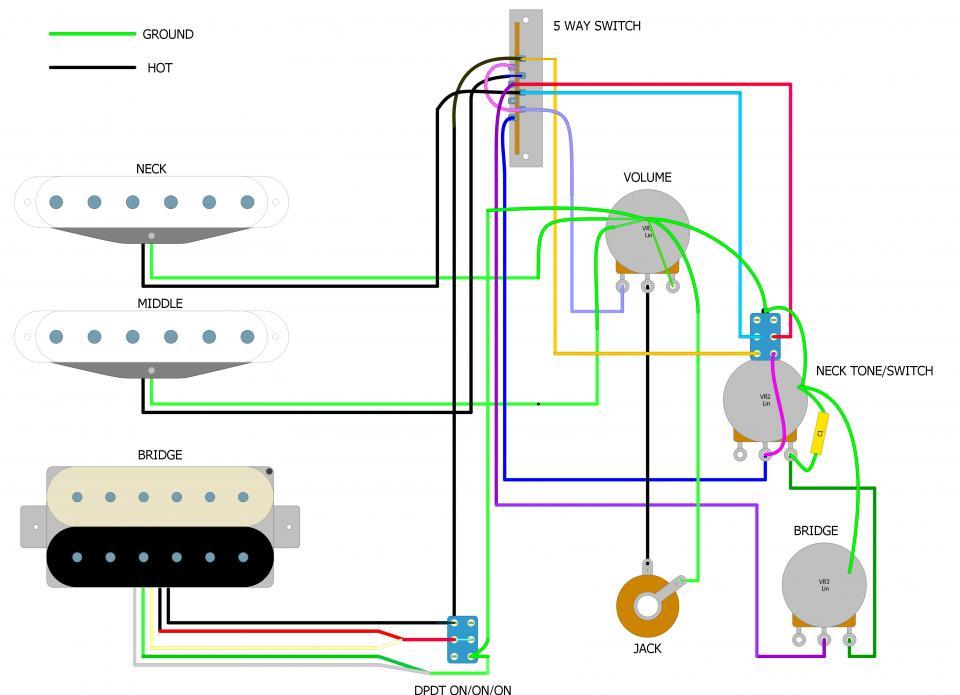 HSS Strat Wiring Diagram For Coil Split Using 3-Way Switch - Seymour Duncan  User Group ForumsSeymour Duncan Forum