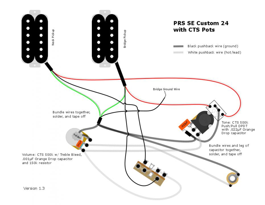 Confirming wiring diagram for PRS SE Custom 24