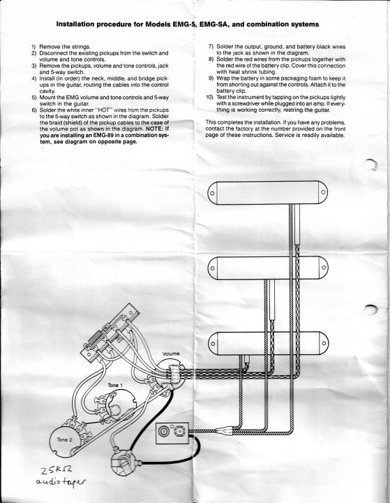 Emg Bas Pickup Wiring Diagram - Wiring Diagram & Schemas