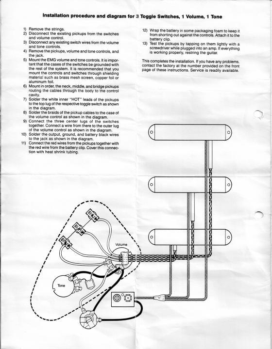 Emg 1 Volume Wiring Diagram