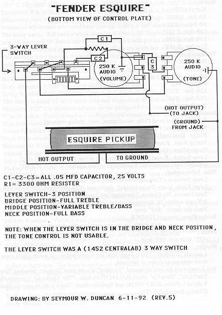 esquire wiring - seymour duncan user group forums  seymour duncan forum