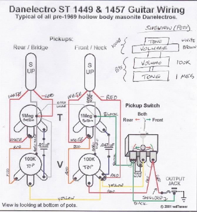 Danelectro Wiring Diagram from forum.seymourduncan.com