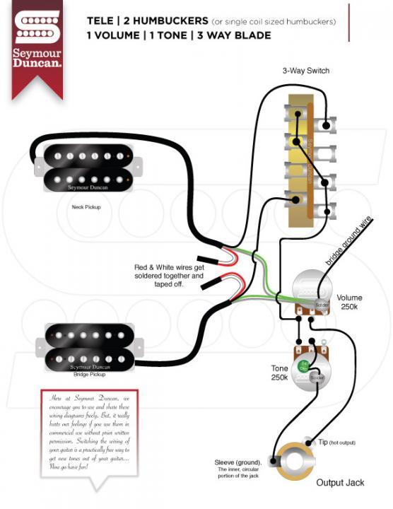 2 Duncan Solar Humbucker Pickups, Seymour Duncan Invader Wiring Schematic