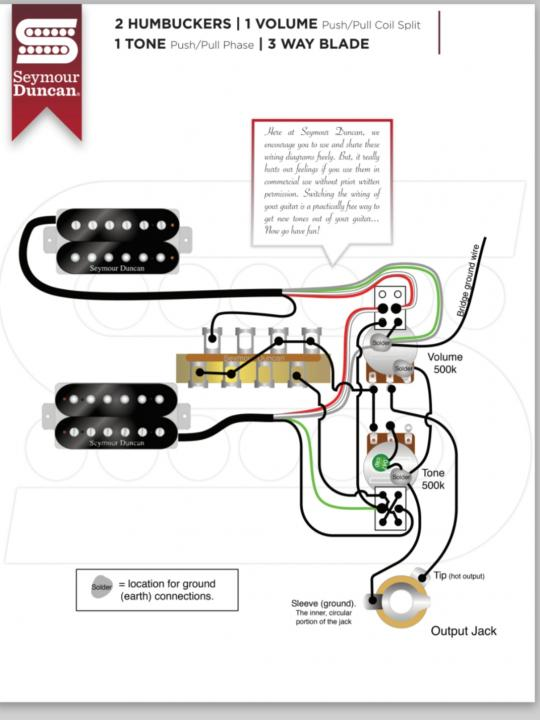 is there a problem with this diagram  seymour duncan user
