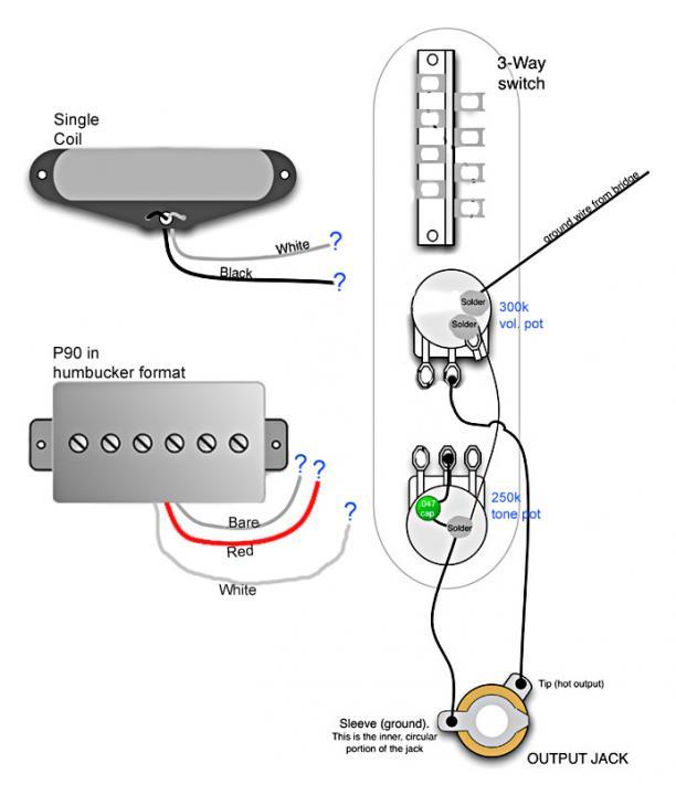 Help Telecaster Single Coil P90, Standard Telecaster Wiring Diagram