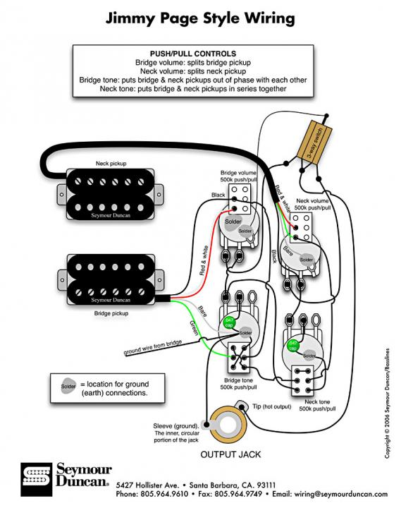 jimmy page wiring diagram help - Seymour Duncan User Group ForumsSeymour Duncan Forum