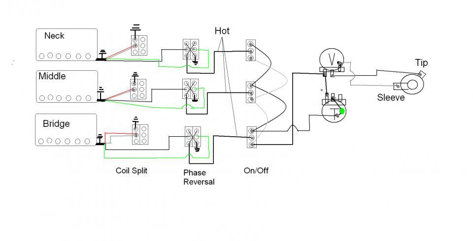 3 humbucker wiring diagram 3 humbucker strat project humbucker wiring diagram 3 way switch 3 humbucker strat project