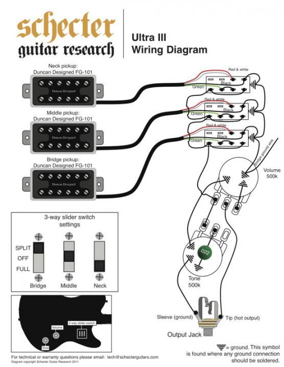 Schecter Stiletto Clic Wiring Diagram