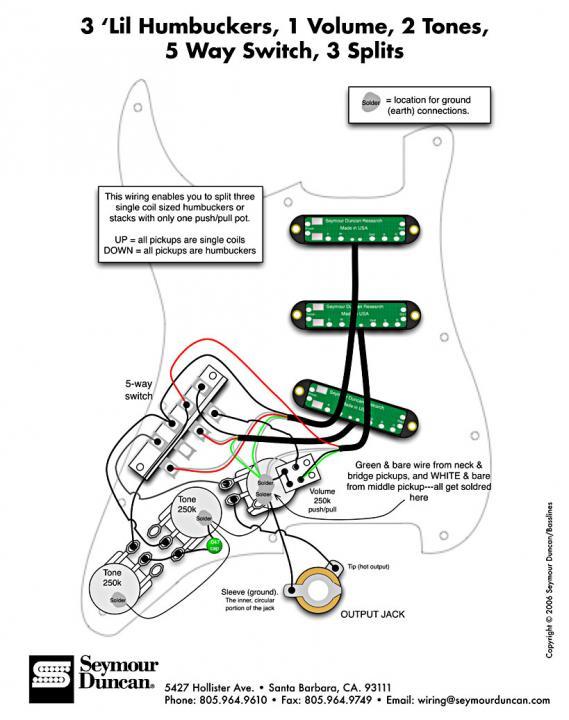Strat Wiring Seymour Duncan Blackout Bridge Diagram