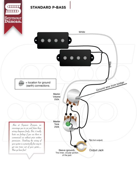 P-Bass wiring confusion