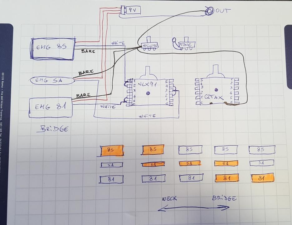 emg 81 85 wiring diagram active pickups hsh wiring  active pickups hsh wiring