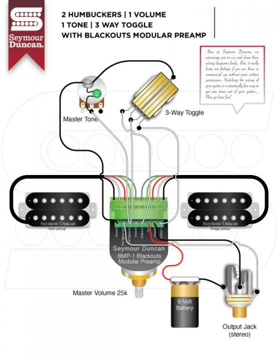 Seymour Duncan Blackouts Modular Preamp Wiring Diagram