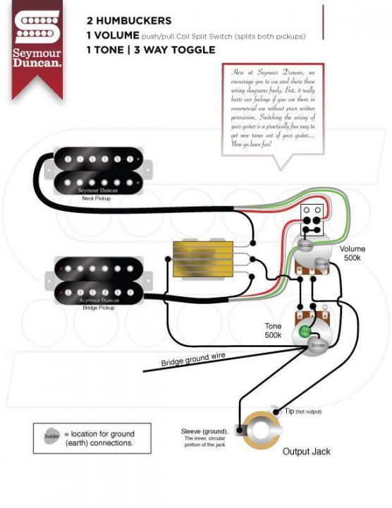 Seymour Duncan, Seymour Duncan Invader Wiring Schematic