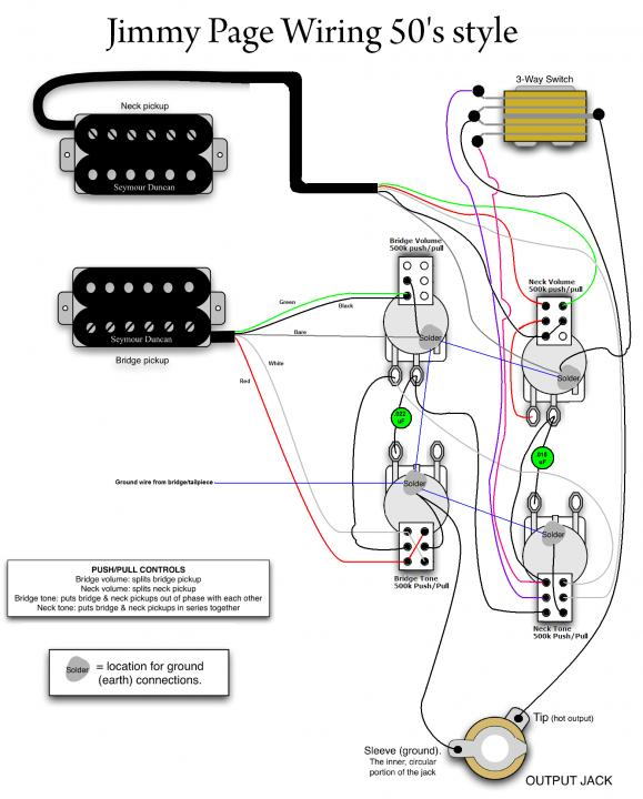 50's Style Jimmy page wiring with Series\Coil Select ... on seymour duncan humbucker wiring diagrams, jimmy page les paul wiring diagram, jimmy page led zeppelin t-shirt, seymour duncan 5-way pickup wiring diagrams, jimmy page health issues,