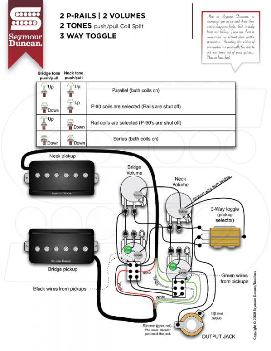 Les Paul Wiring Diagram Push Pull from forum.seymourduncan.com