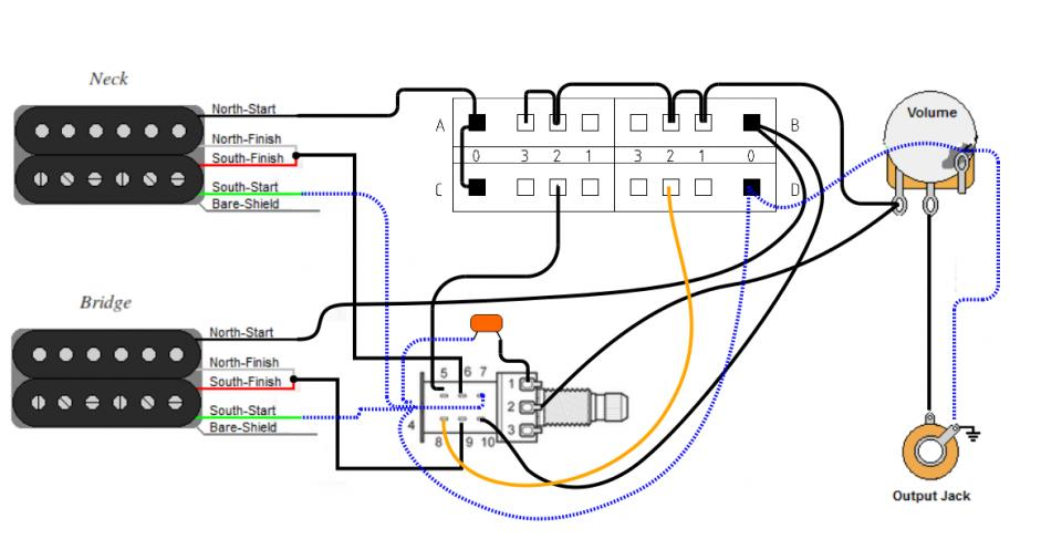 3 way 4 pole guitar wiring diagram charvel six pack of sound wiring  charvel six pack of sound wiring