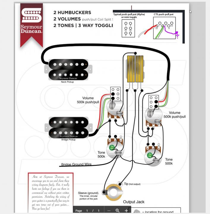 Backwards coil splits, could really use some wiring help please - Seymour  Duncan User Group Forums | With A Push Pull Split Coil Wiring Diagram |  | Seymour Duncan Forum