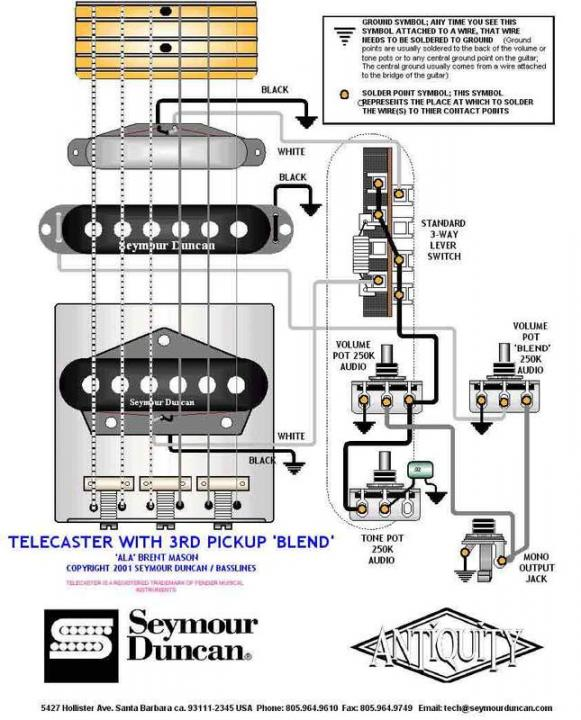 S H H Telecaster Pickup Wiring Seymour Duncan User Group Forums